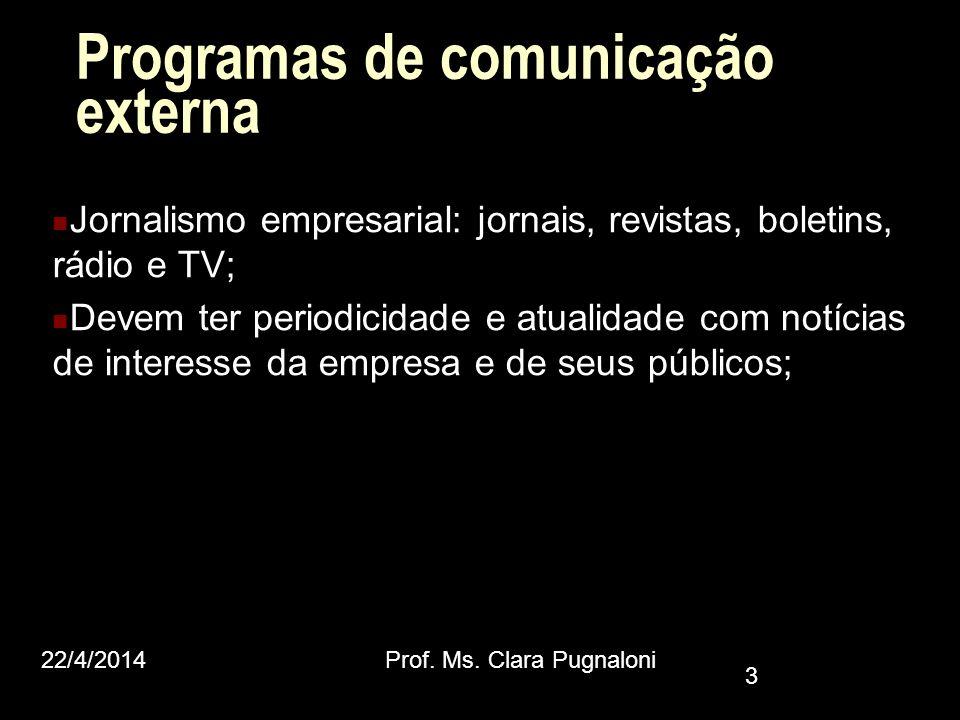 Programas de comunicação externa