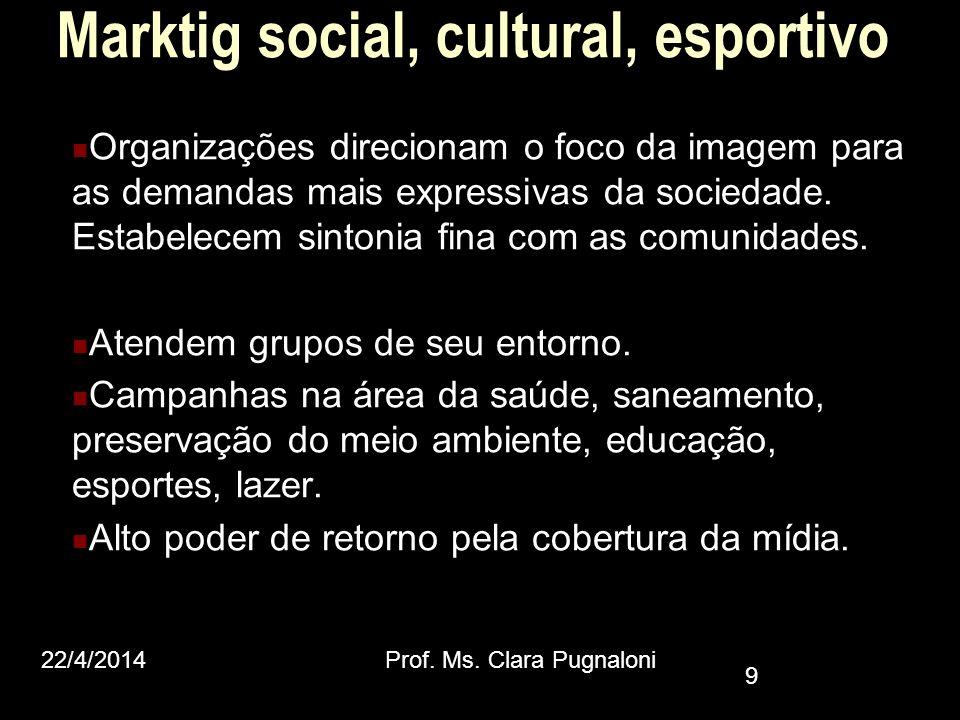 Marktig social, cultural, esportivo
