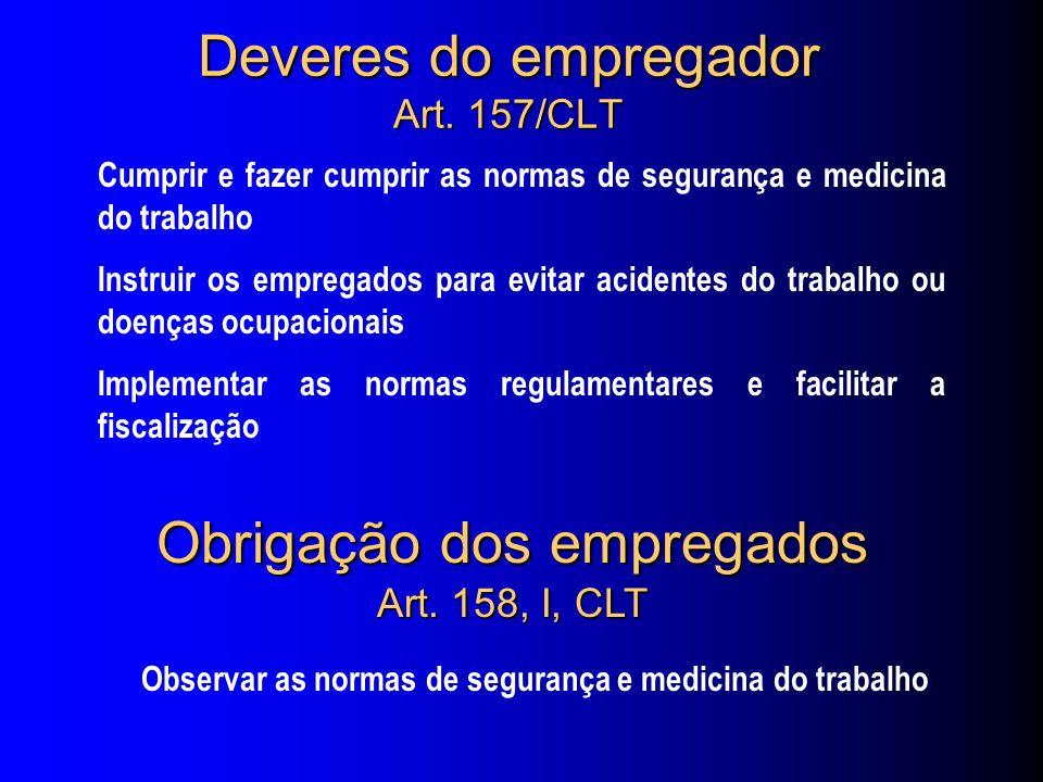 Deveres do empregador Art. 157/CLT