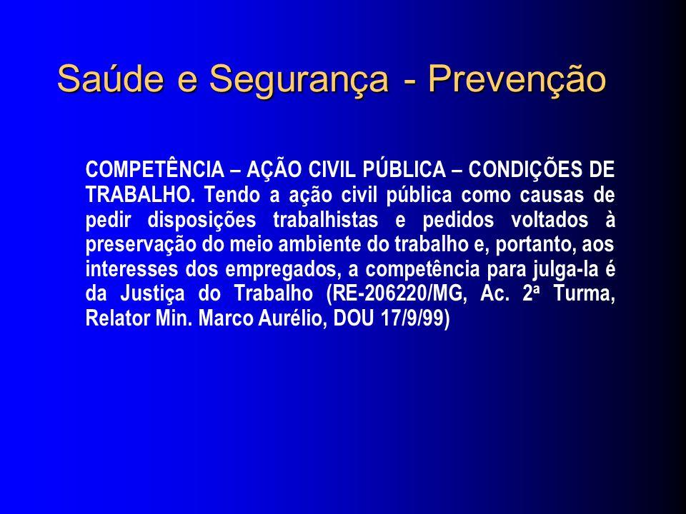 Saúde e Segurança - Prevenção