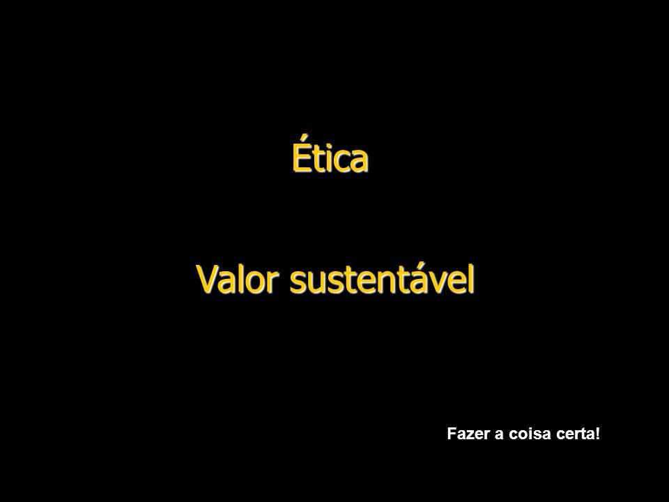 Ética Valor sustentável Fazer a coisa certa!