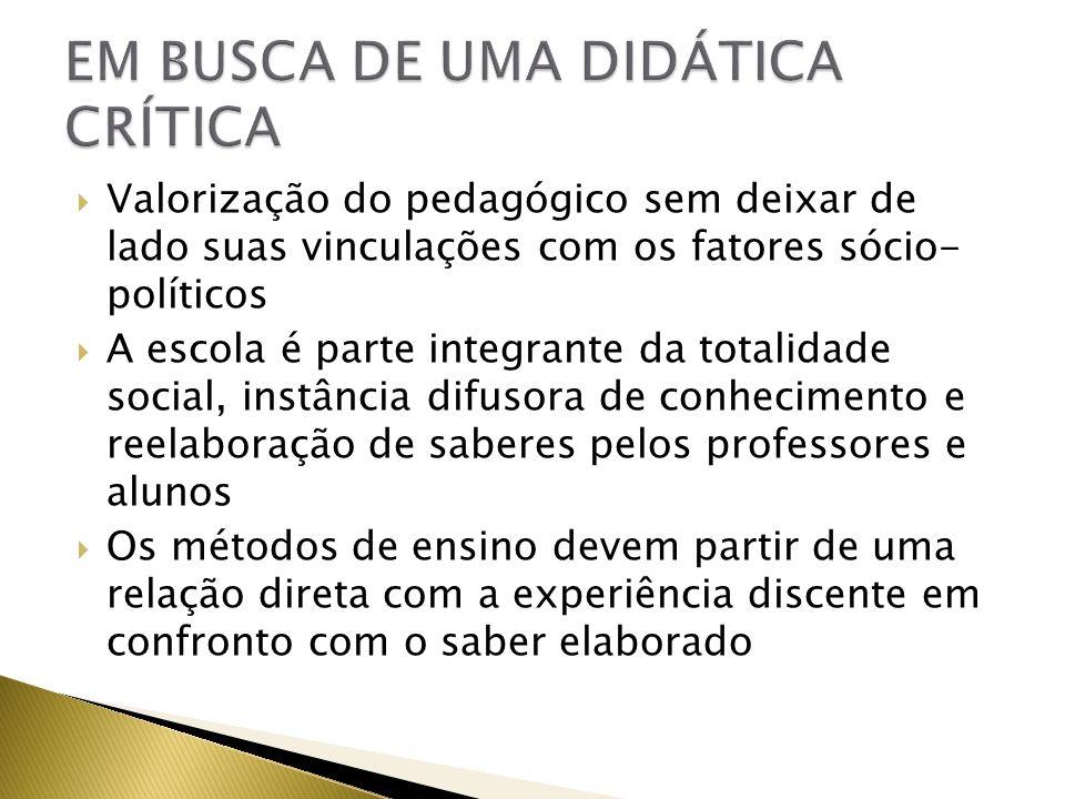 EM BUSCA DE UMA DIDÁTICA CRÍTICA
