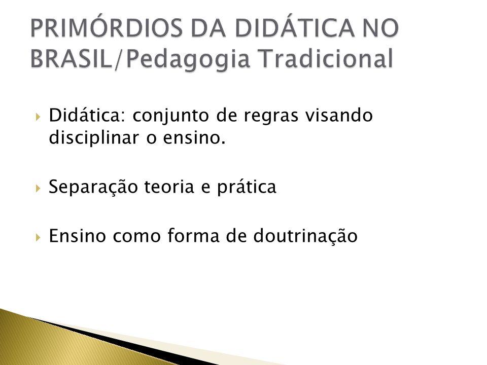 PRIMÓRDIOS DA DIDÁTICA NO BRASIL/Pedagogia Tradicional
