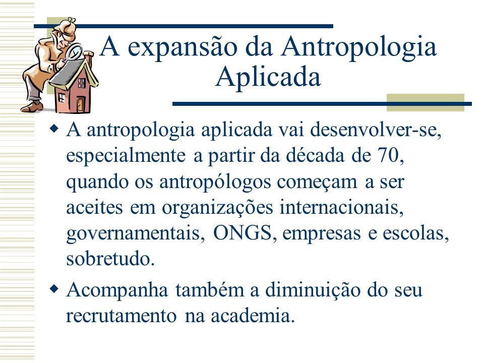 A expansão da Antropologia Aplicada