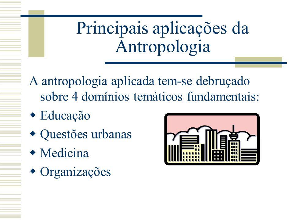 Principais aplicações da Antropologia