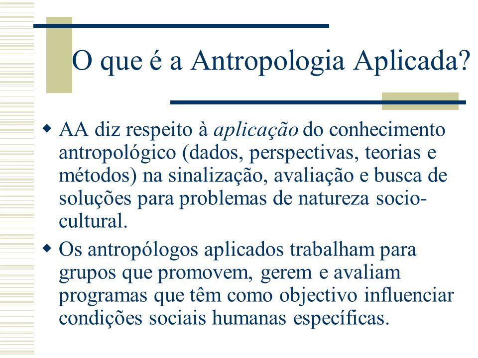 O que é a Antropologia Aplicada