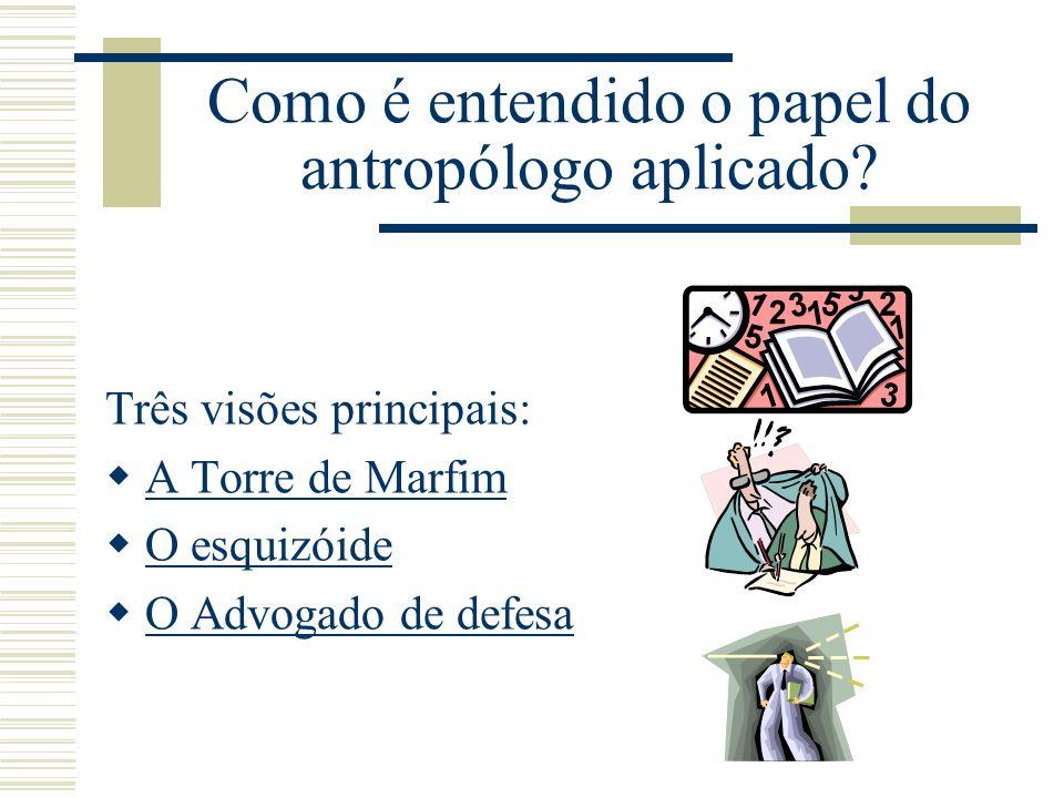 Como é entendido o papel do antropólogo aplicado