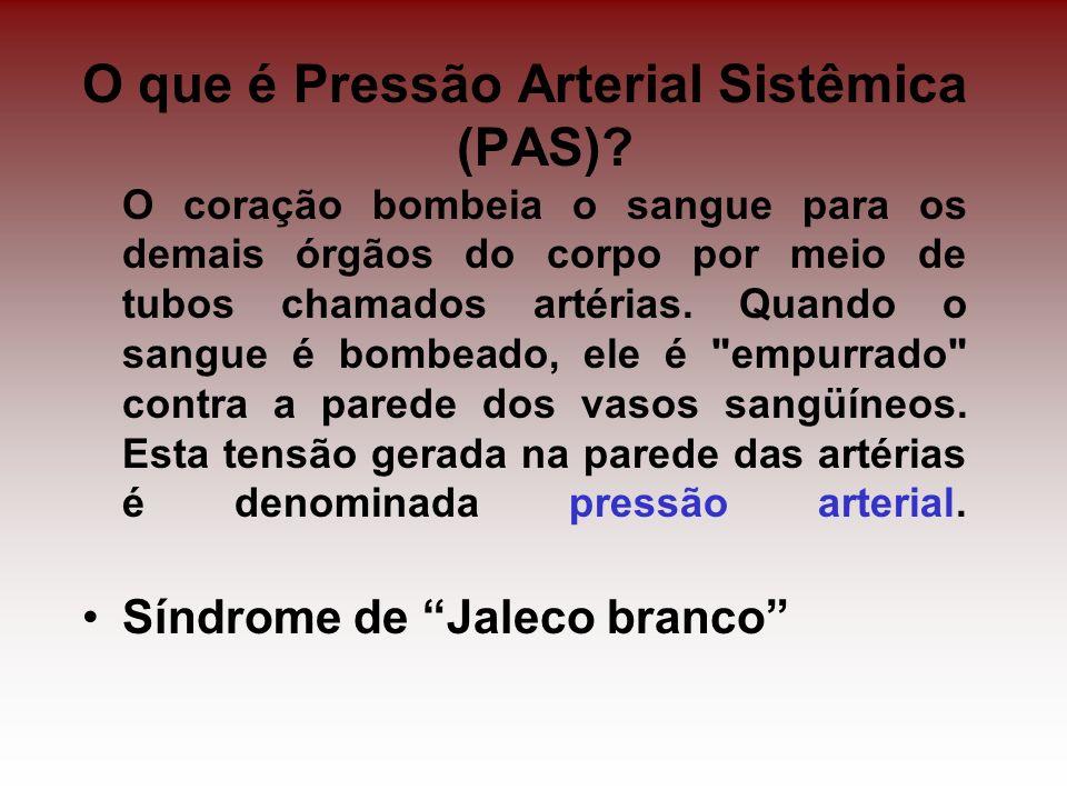 O que é Pressão Arterial Sistêmica (PAS)