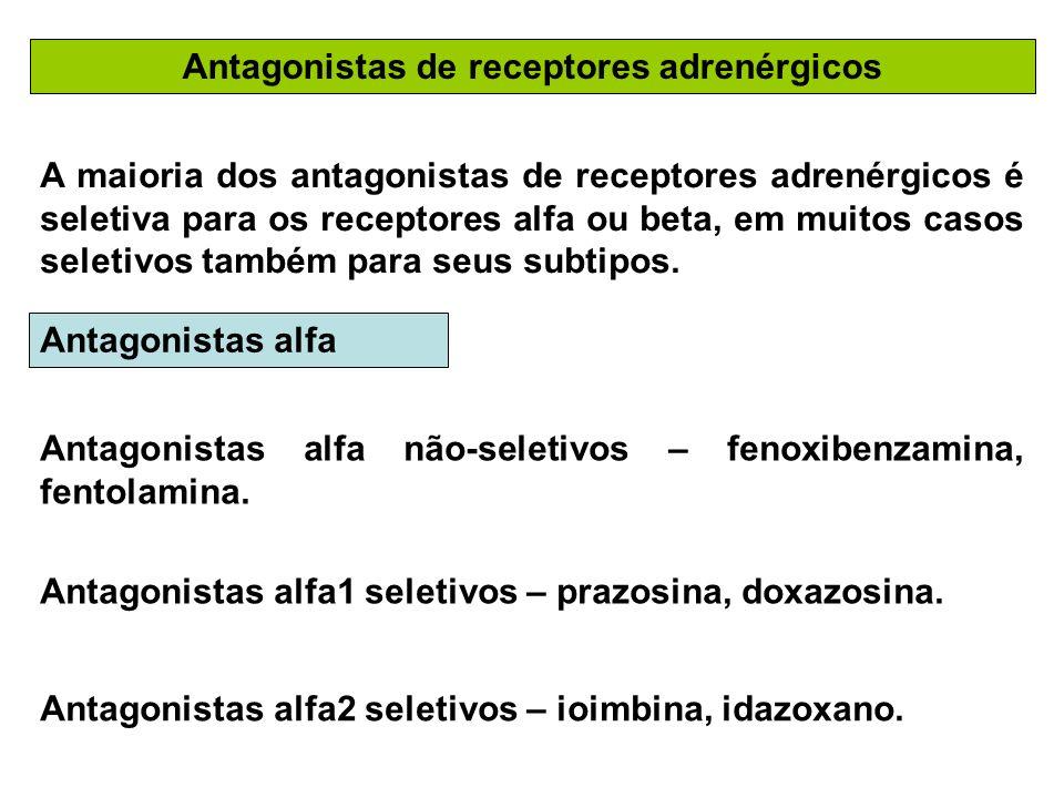 Antagonistas de receptores adrenérgicos