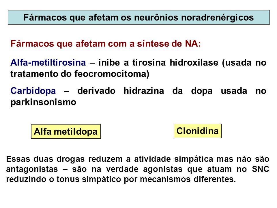 Fármacos que afetam os neurônios noradrenérgicos