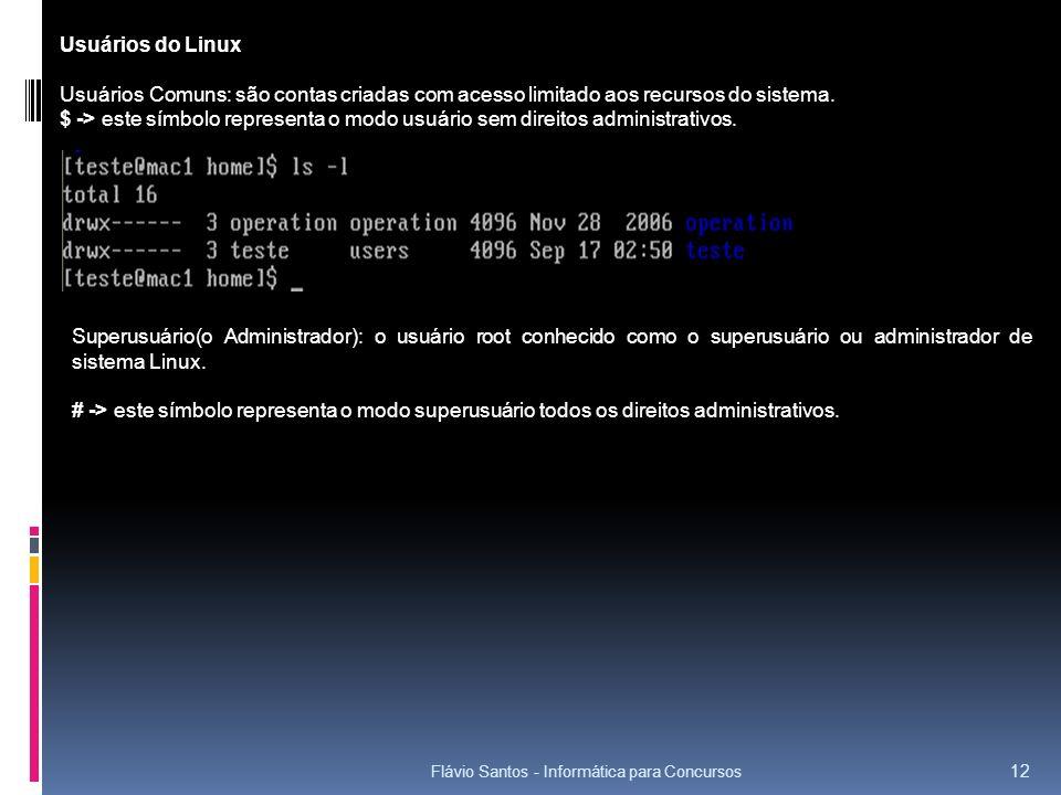 Usuários do Linux Usuários Comuns: são contas criadas com acesso limitado aos recursos do sistema.
