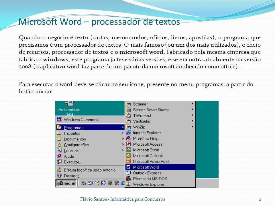 Microsoft Word – processador de textos