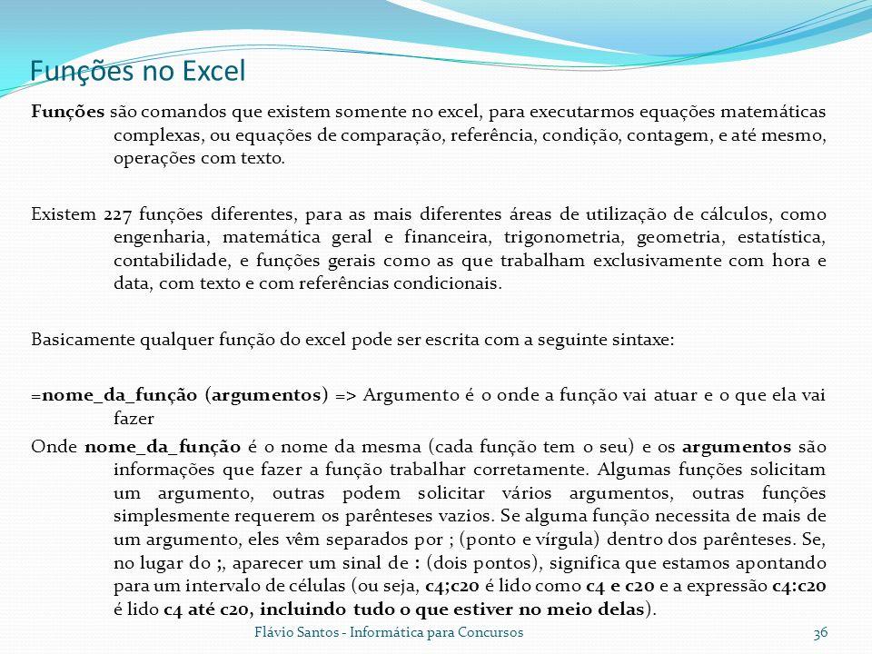 Funções no Excel