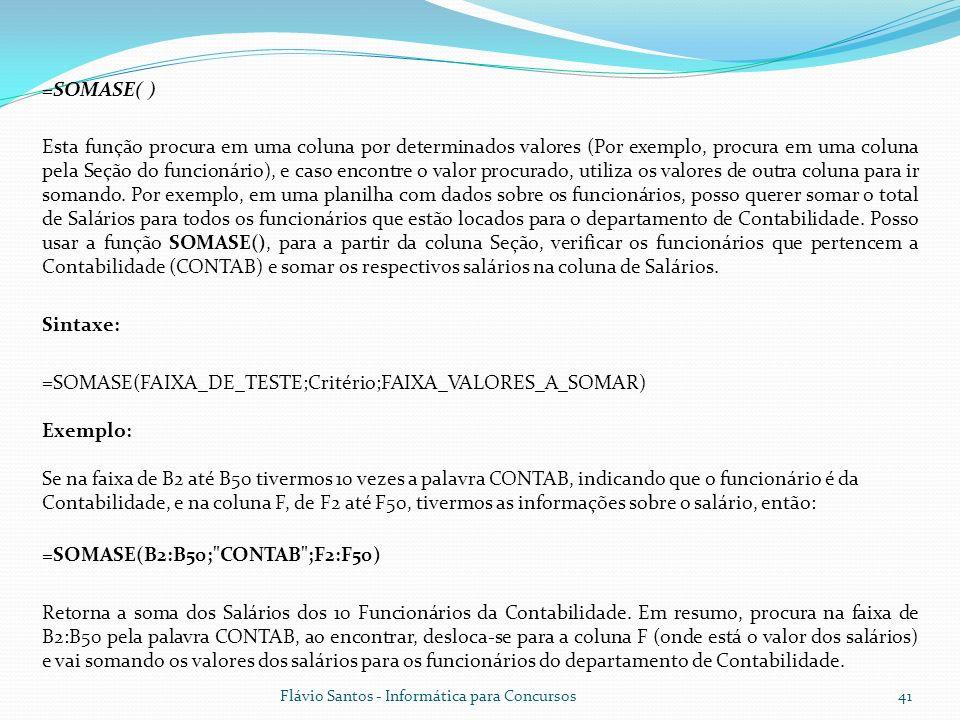 =SOMASE(B2:B50; CONTAB ;F2:F50)