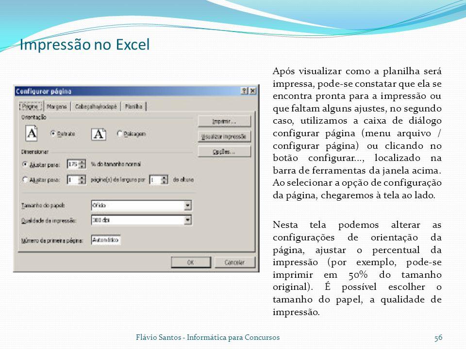 Impressão no Excel