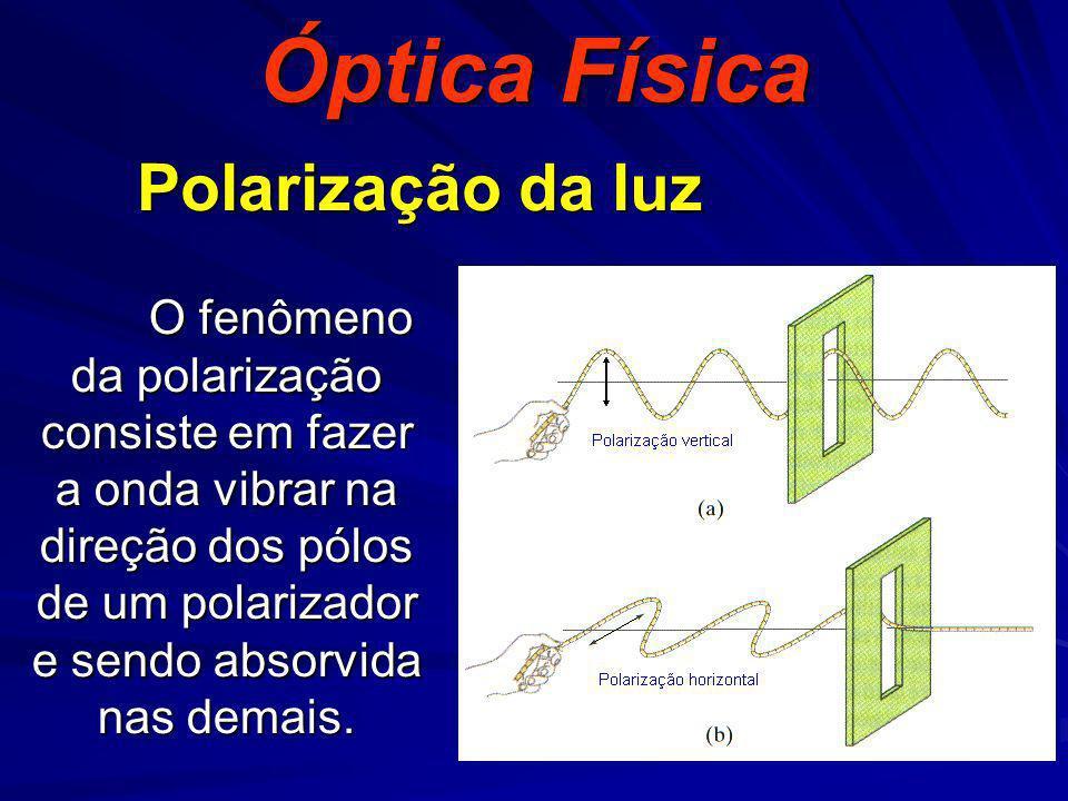 Óptica Física Polarização da luz