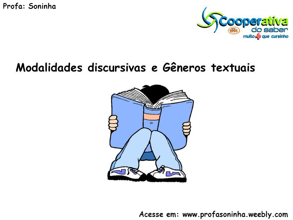 Modalidades discursivas e Gêneros textuais