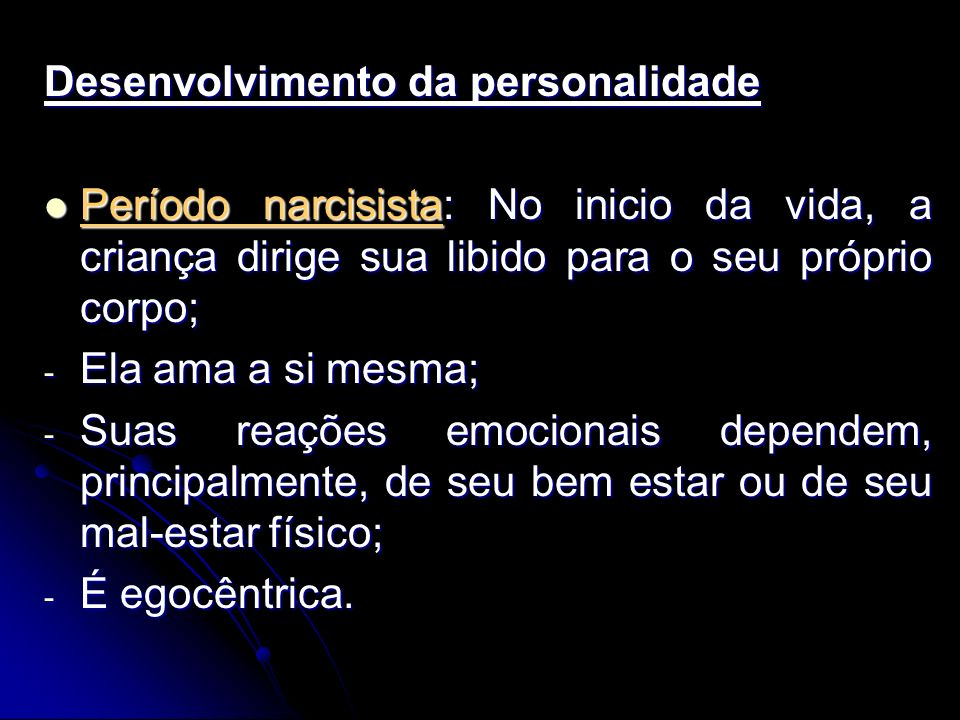 Desenvolvimento da personalidade