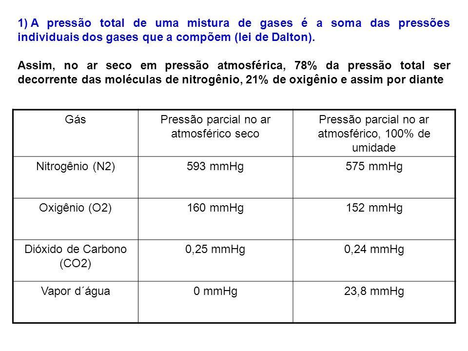 Pressão parcial no ar atmosférico seco