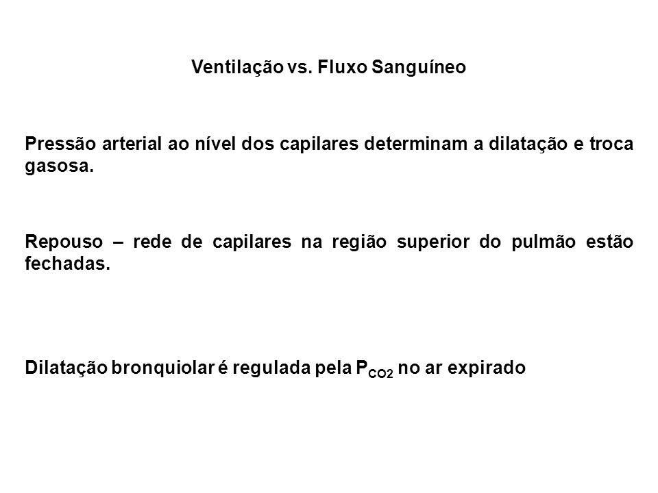 Ventilação vs. Fluxo Sanguíneo