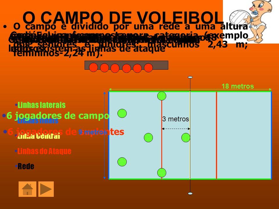 O CAMPO DE VOLEIBOL