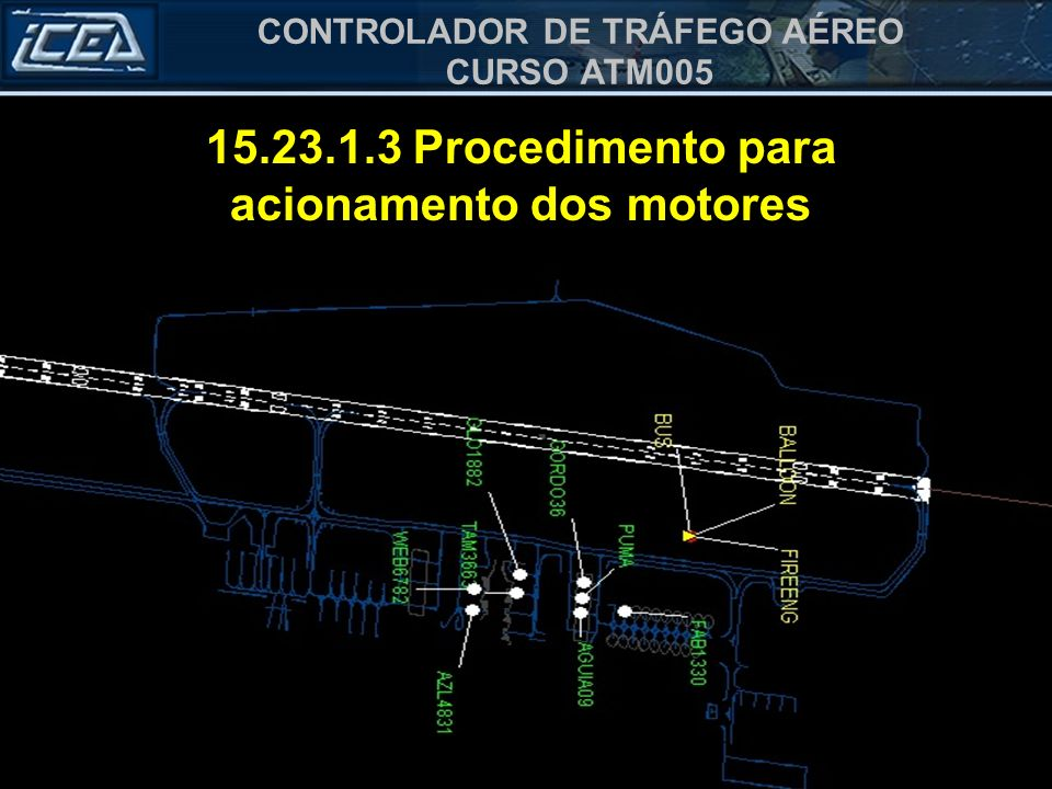 15.23.1.3 Procedimento para acionamento dos motores