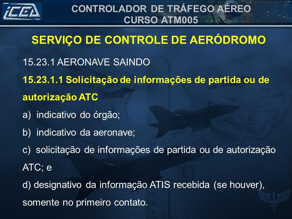 SERVIÇO DE CONTROLE DE AERÓDROMO