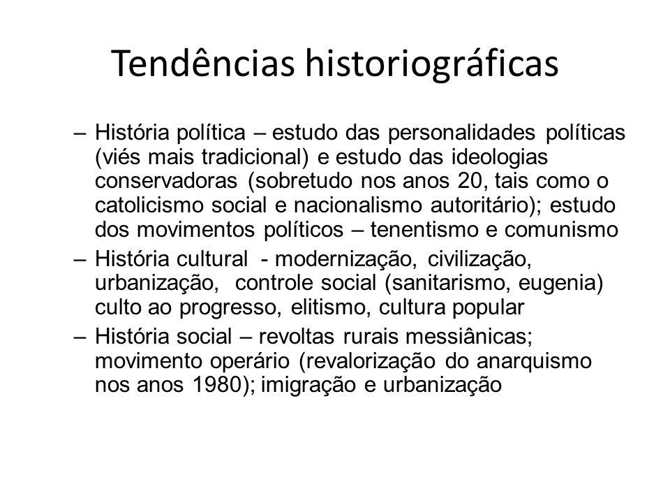Tendências historiográficas