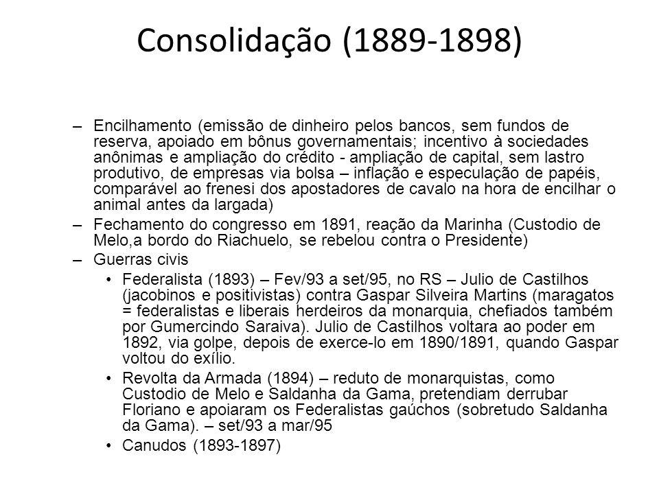 Consolidação (1889-1898)