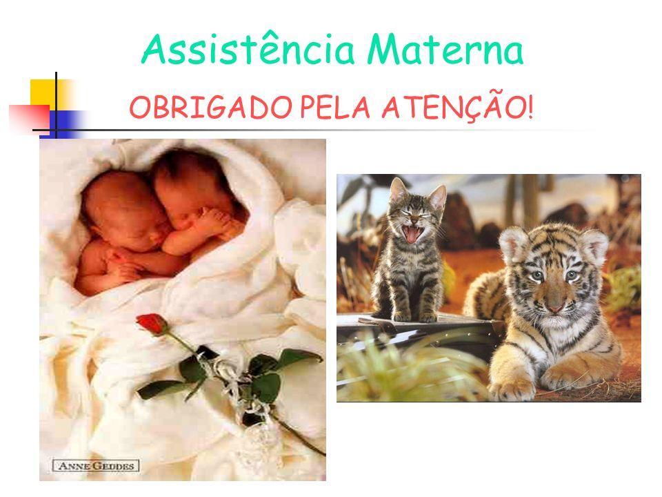Assistência Materna OBRIGADO PELA ATENÇÃO!