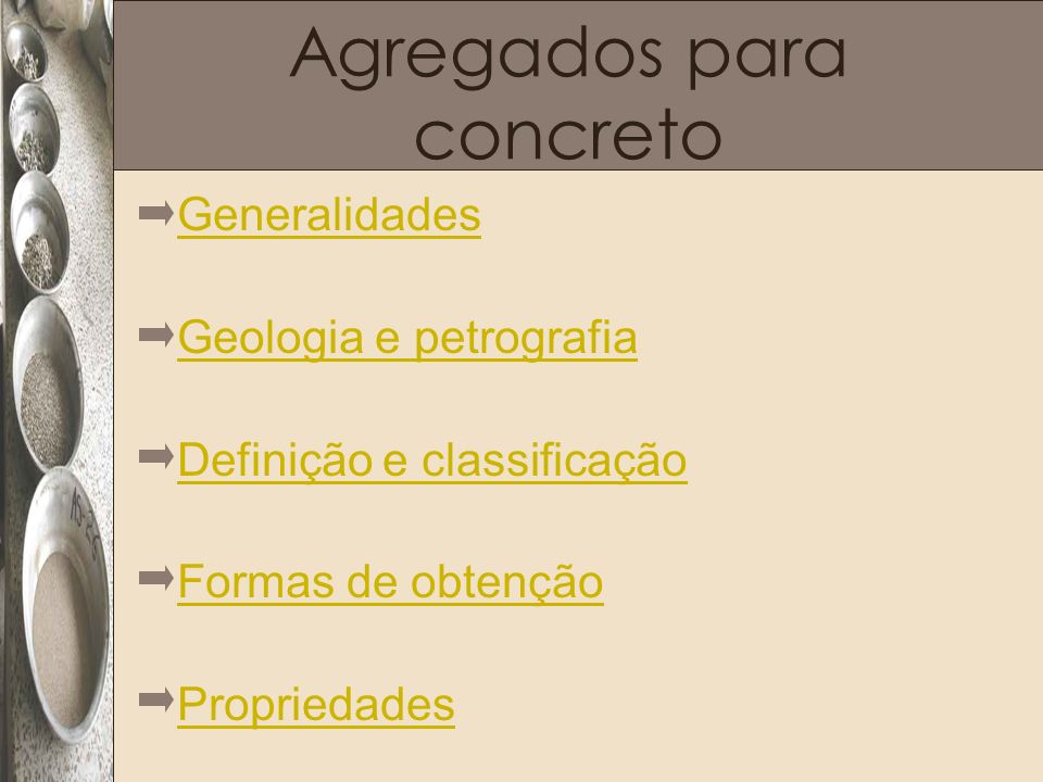 Agregados para concreto