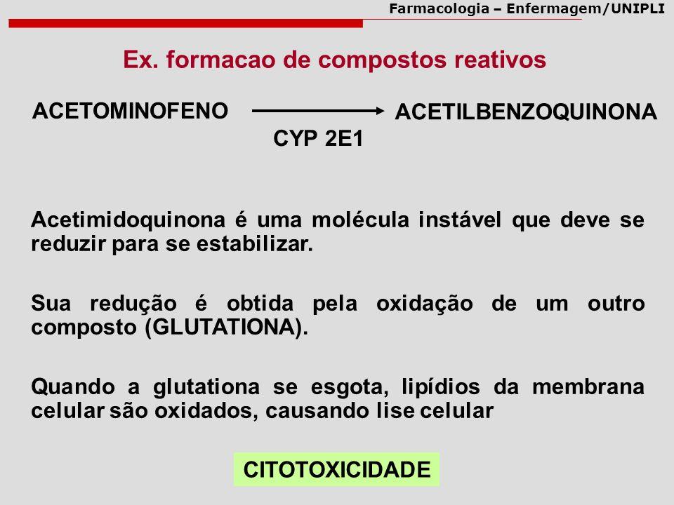 Ex. formacao de compostos reativos