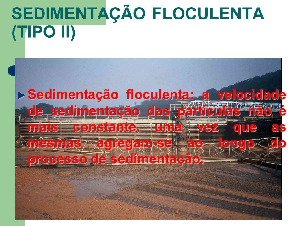 SEDIMENTAÇÃO FLOCULENTA (TIPO II)