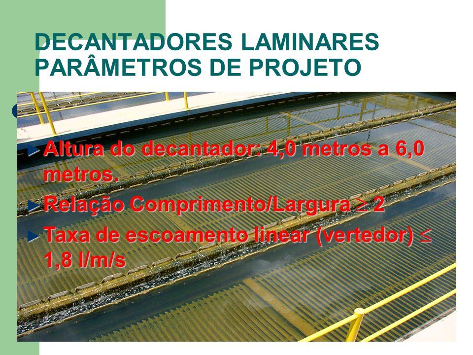 DECANTADORES LAMINARES PARÂMETROS DE PROJETO