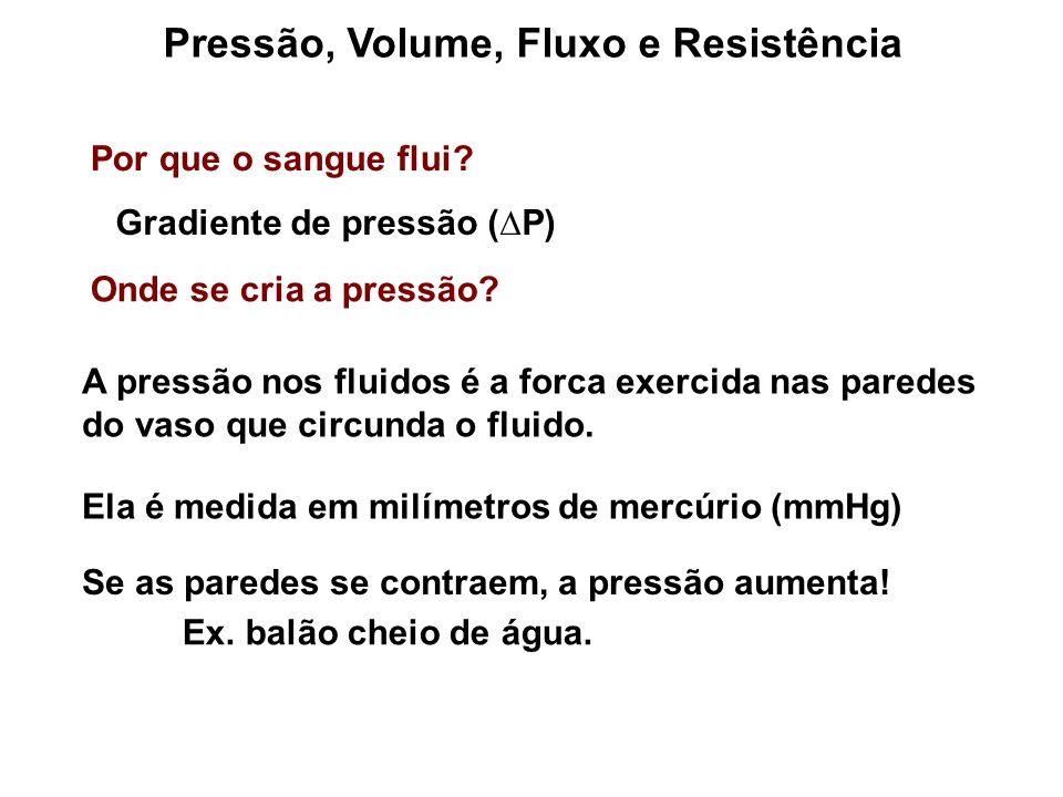 Pressão, Volume, Fluxo e Resistência