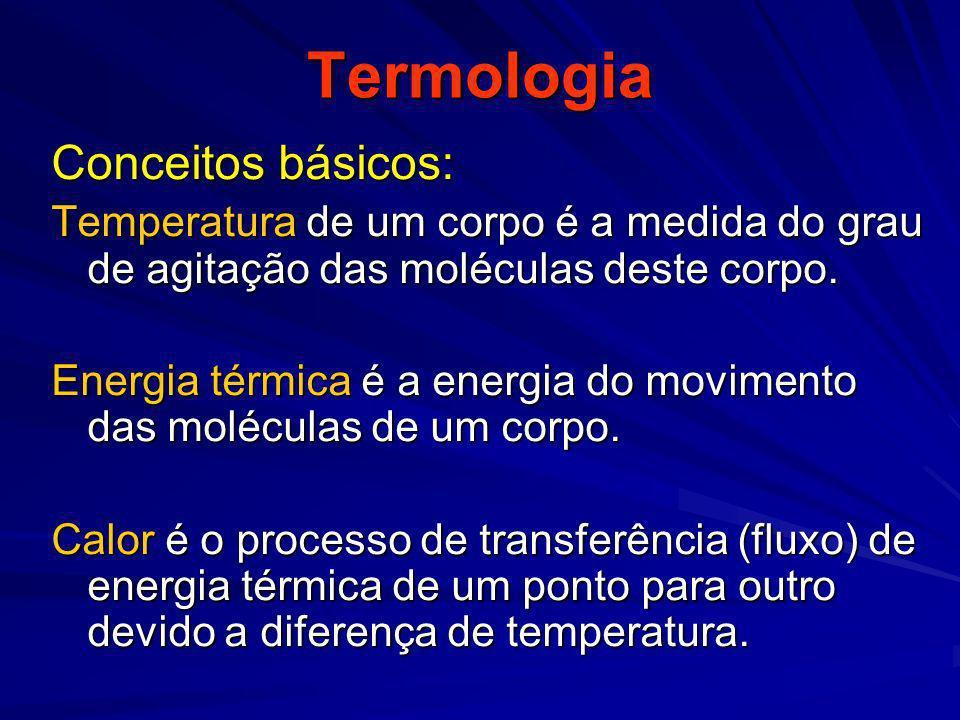 Termologia Conceitos básicos: