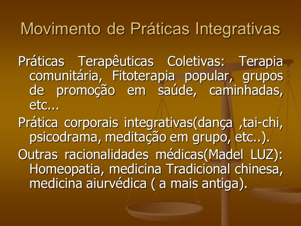 Movimento de Práticas Integrativas