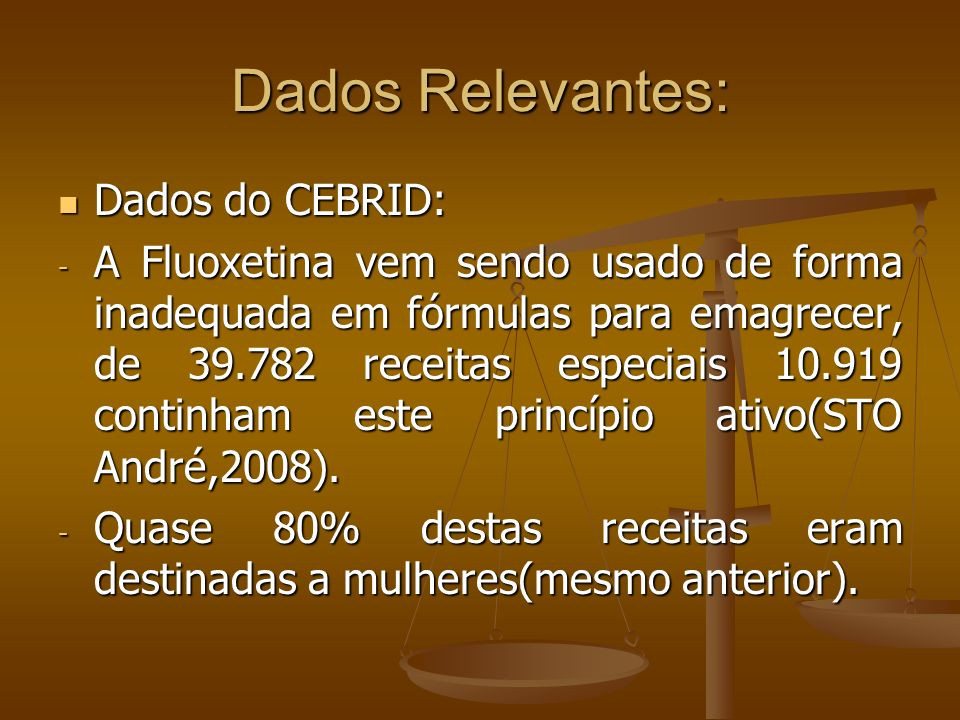 Dados Relevantes: Dados do CEBRID: