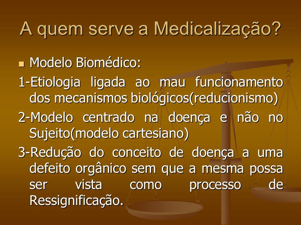 A quem serve a Medicalização