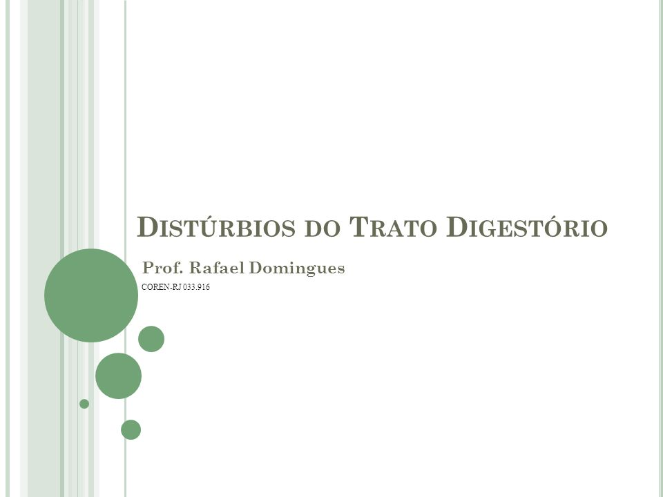 Distúrbios do Trato Digestório