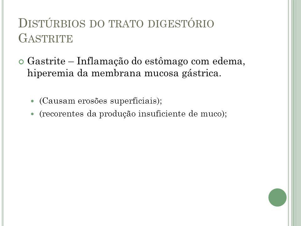 Distúrbios do trato digestório Gastrite