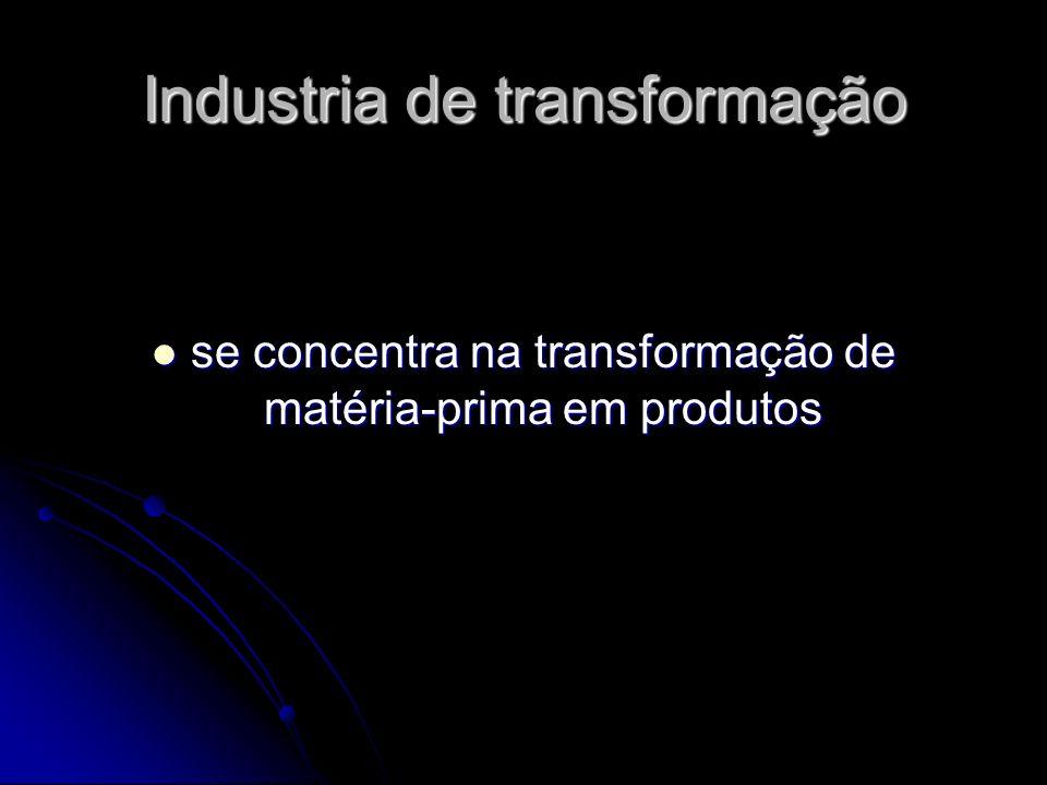 Industria de transformação