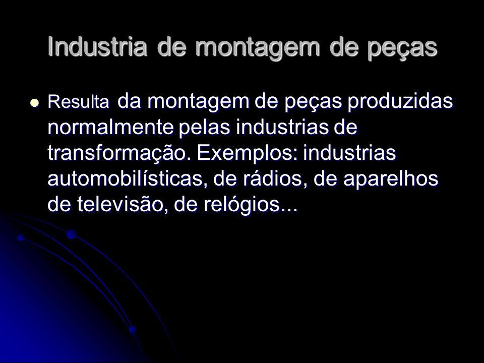 Industria de montagem de peças