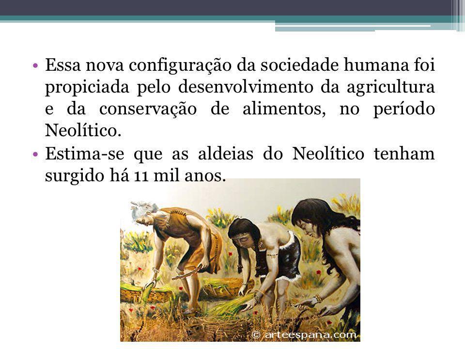 Essa nova configuração da sociedade humana foi propiciada pelo desenvolvimento da agricultura e da conservação de alimentos, no período Neolítico.