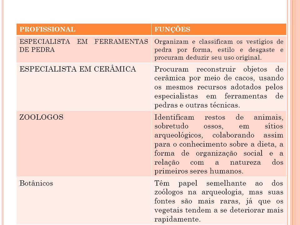 ESPECIALISTA EM CERÂMICA