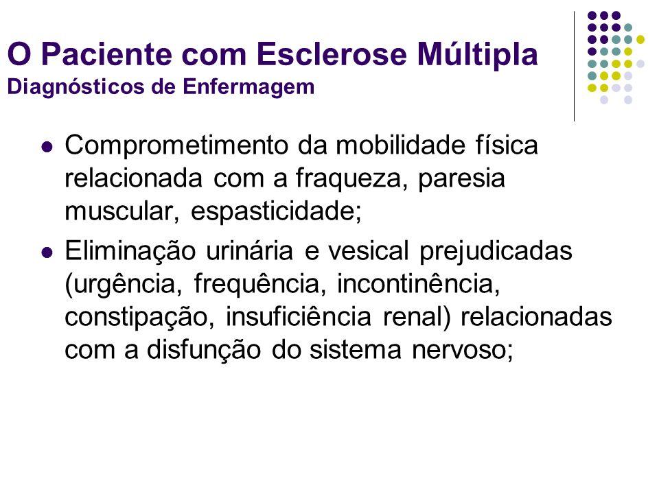 O Paciente com Esclerose Múltipla Diagnósticos de Enfermagem
