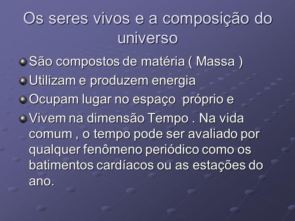 Os seres vivos e a composição do universo
