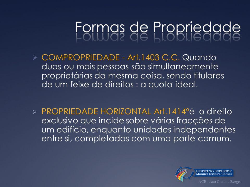 Formas de Propriedade