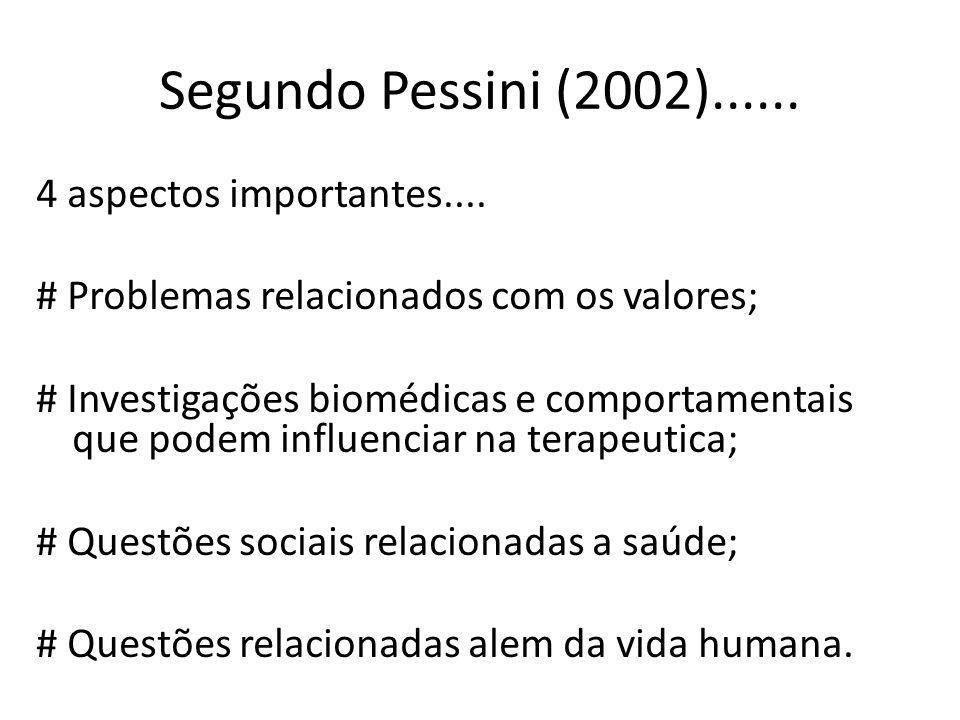 Segundo Pessini (2002)......