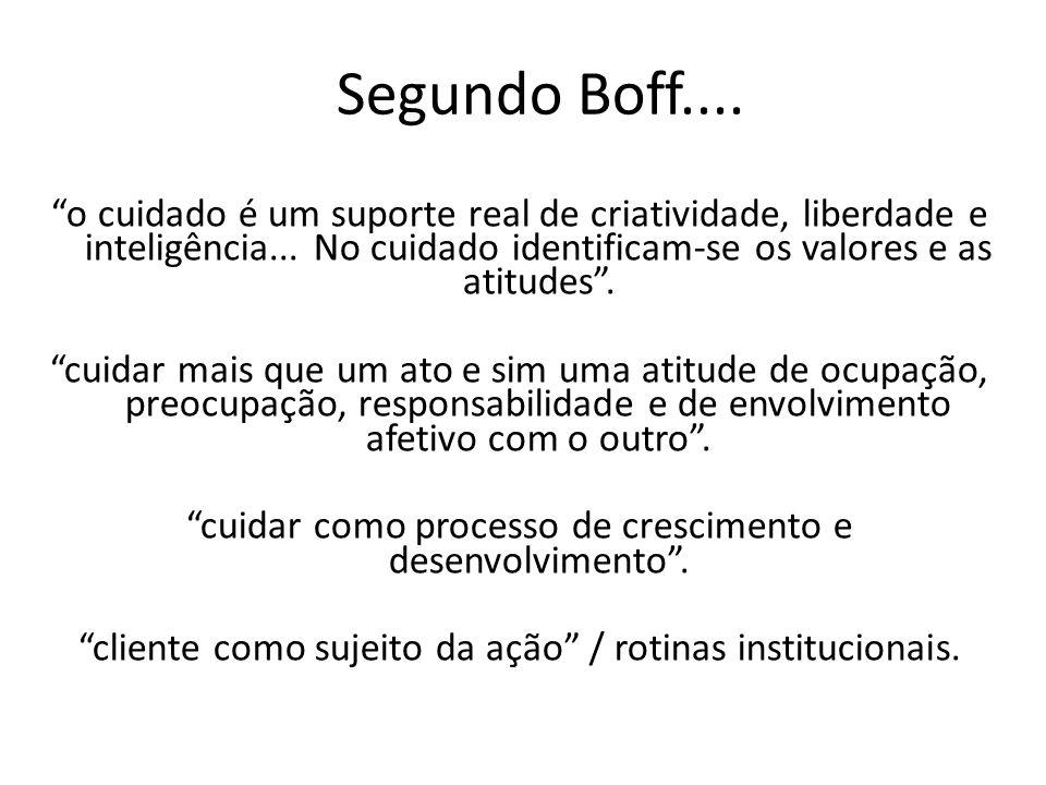 Segundo Boff....